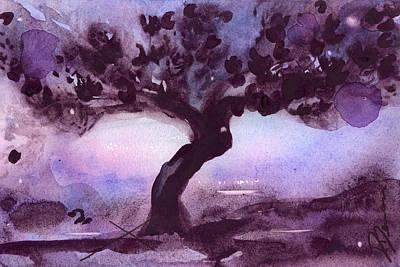 Moody Painting - Moonlit by Dawn Derman