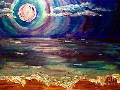Laugh Painting - Moonlit Dream by Melissa Darnell Glowacki