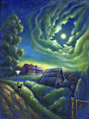 Painting - Moonlit Dreams Come True by Retta Stephenson