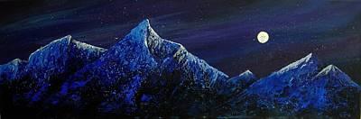 Moonlit Art Print by Edith Peterson-Watson