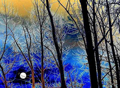 Moonlit Frosty Limbs Art Print