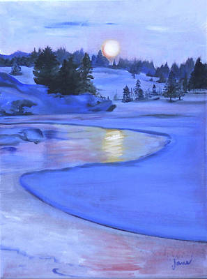 Gods Sunshine Art Painting - Moonlit by Jane Autry