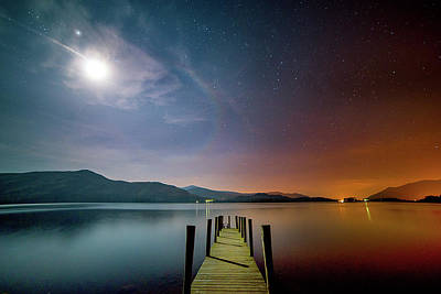 Photograph - Moonlit Jetty by Richard Berry Photography