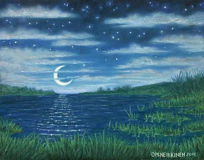 Pastel - Moonlit Lagoon by Michael Heikkinen