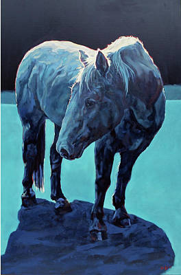 Nocturnal Animals Painting - Moonlit Malaki by Patricia A Griffin