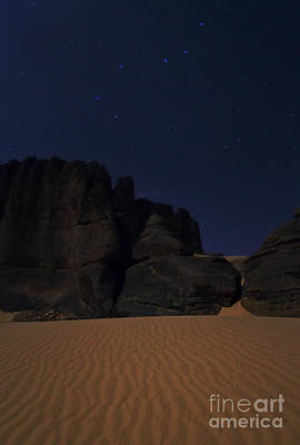 Moonlit Night Of Sahara Art Print by Babak Tafreshi