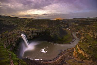 Photograph - Moonlit Palouse Falls by Dustin  LeFevre
