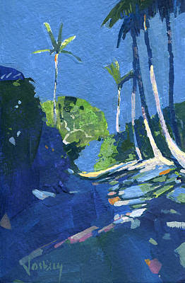 Haleiwa Painting - Moonlit Path by Stacy Vosberg