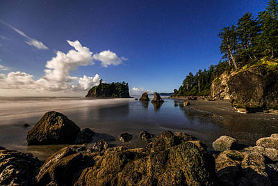 Olympic National Park Photograph - Moonlit Ruby by Chad Dutson