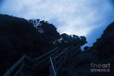 Photograph - Moonlit Sea Stairs by Amanda Holmes Tzafrir
