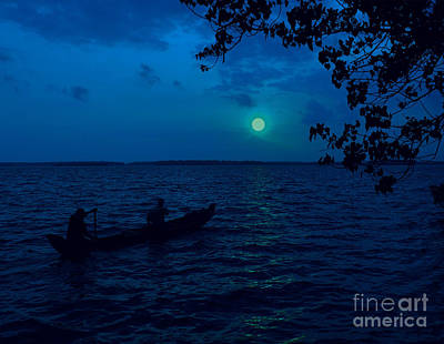 Photograph - Moonlit Waterscape by Anuj Nair