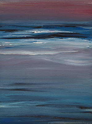 Painting - Moonlit Waves At Dusk by Jani Freimann