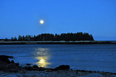 Photograph - Moonrise Acadia National Park by Glenn Gordon