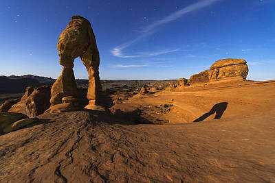 Photograph - Moonrise At Delicate Arch by Dustin  LeFevre