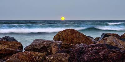 Photograph - Moonrise At Miami by Demosthenes Mateo Jr