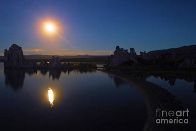 Photograph - Moonrise At Mono by Adam Jewell
