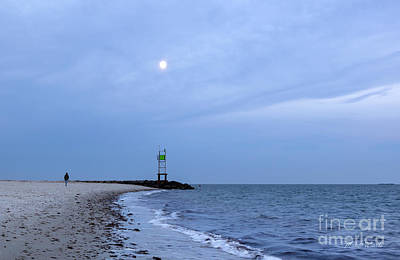 Photograph - Moonrise At Smugglers Beach by Michelle Wiarda