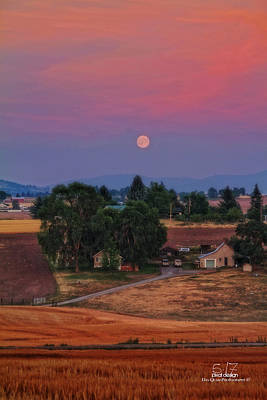 Moonrise At Sunset Art Print by Dan Quam