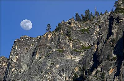 Photograph - Moonrise At Tunnel View- Yosemite by Daniel Behm