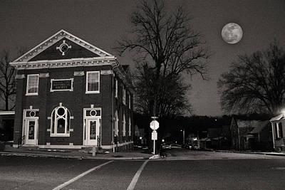 Moonrise Hermann Missouri Original by William Fields