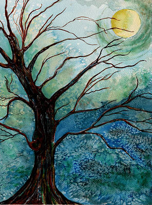 Painting - Moonrise In The Wild Night by Brenda Owen