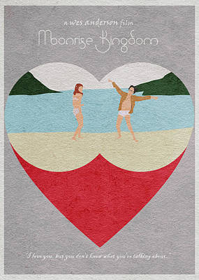 Heart Drawing - Moonrise Kingdom by Ayse Deniz