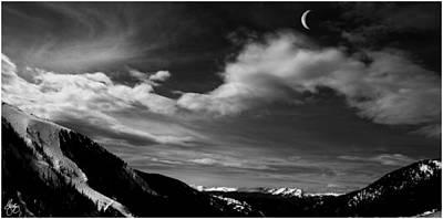 Photograph - Moonrise On The Rockies by Wayne King