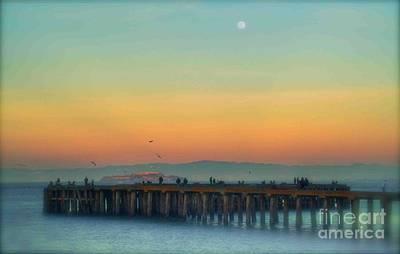 Moonrise Over Alcatraz Original