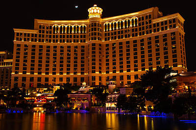 Jmp Photograph - Moonrise Over Bellagio by James Marvin Phelps