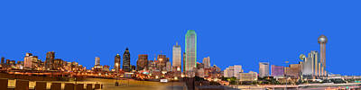 Photograph - Moonrise Over Dallas by Jim Martin