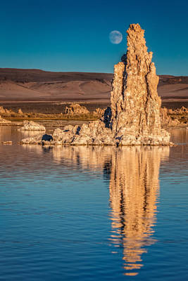 Moonrise Over Mono Lake Art Print