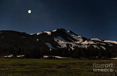 Photograph - Moonrise Over Mt. Jefferson by Stuart Gordon