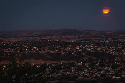 Moonrise Over Paso Art Print