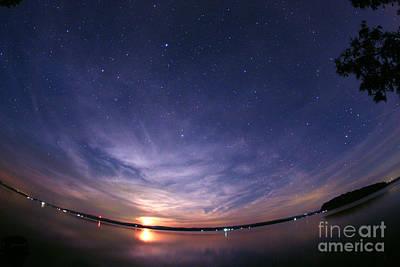 Moonrise Over Rice Lake, Canada Art Print by John Chumack