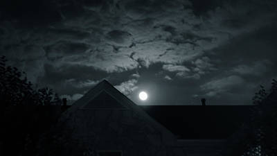 Just Desserts - Moonrise over roof by SAURAVphoto Online Store