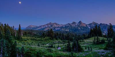 Photograph - Moonrise Over Tatoosh by Chris McKenna