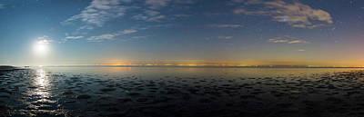 Moonrise Over The Caspian Sea Print by Babak Tafreshi