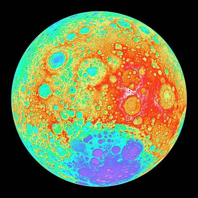 180 Wall Art - Photograph - Moon's Far Side by Nasa/gsfc/dlr/asu/science Photo Library