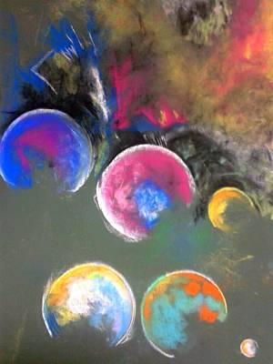 Moons Of Jupiter Art Print by Thomas Petrizzo