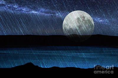 Digital Art - Moonscape by Angelika Drake