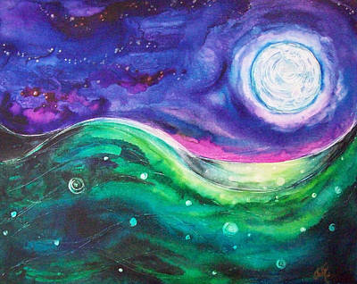 Painting - Moonscape by Christy Freeman Stark