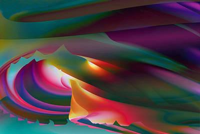 Digital Art - Moonscape by Dolores Kaufman