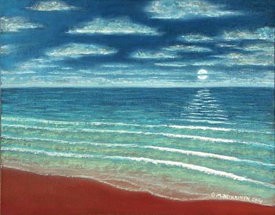 Pastel - Moonset C by Michael Heikkinen
