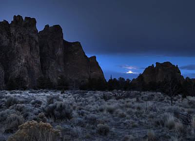 Photograph - Moonset by Coby Cooper