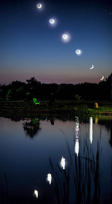 Photograph - Moonset by John Crothers
