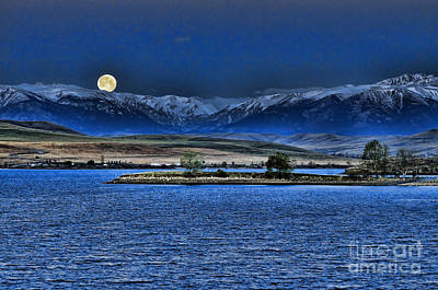 Photograph - Moonset Over Cooney by Gary Beeler