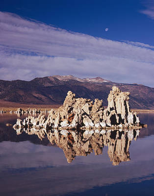 Photograph - Moonset Over Tufa by Tom Daniel