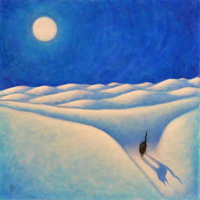 Moonshadow Painting - Moonshadow II by Heidi Shaulis