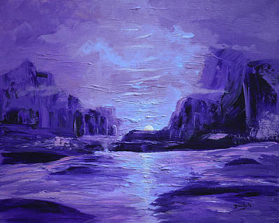 Painting - Moonshine by Donna Blackhall