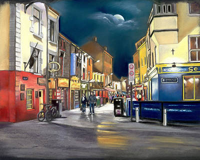 Painting - Moonshine On Quay Street by Irish Art